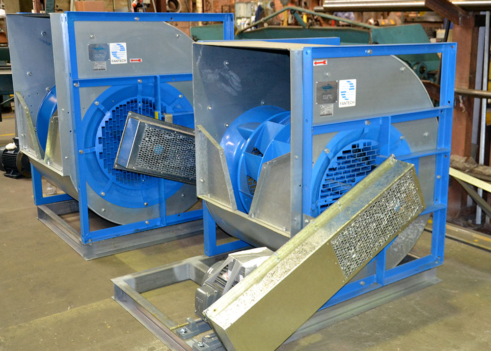 Belt drive exhaust fan